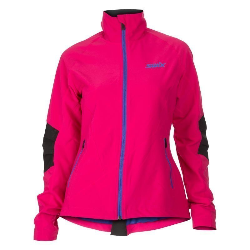 Swix Decibel Jacket Womens M Bright Fuchsia/Mazarin Blue