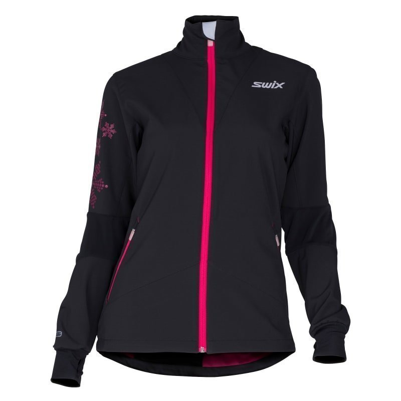Swix Geilo Jacket Women's L Black/Bright Fuchsia