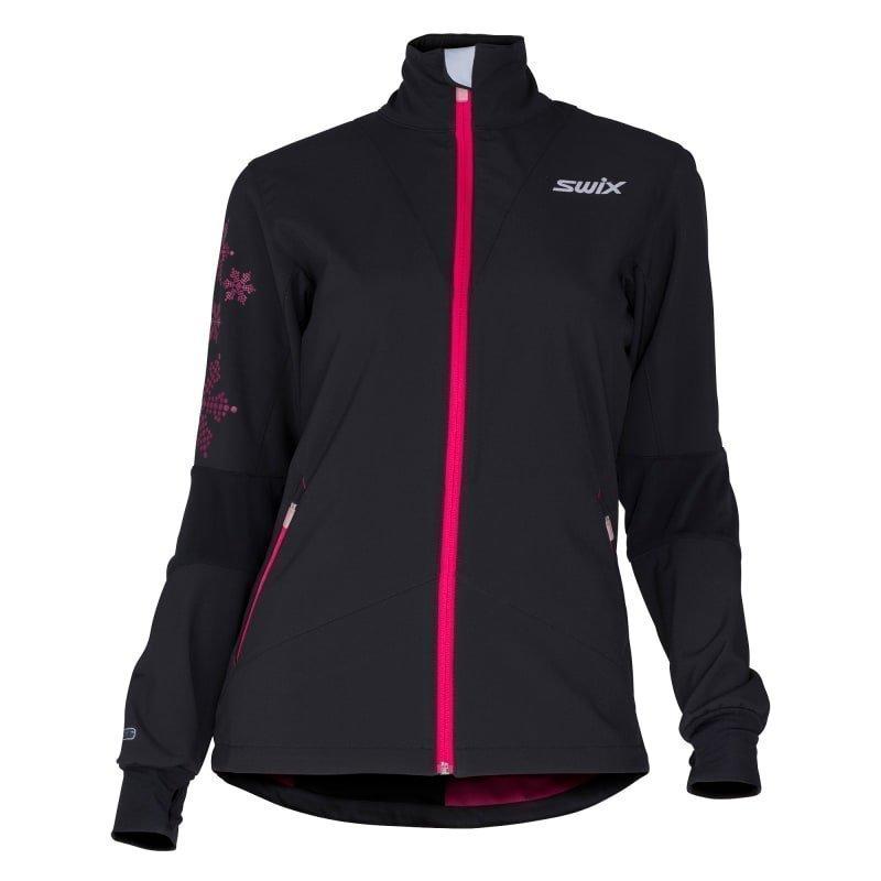 Swix Geilo Jacket Women's L Black/Bright Fuchsia