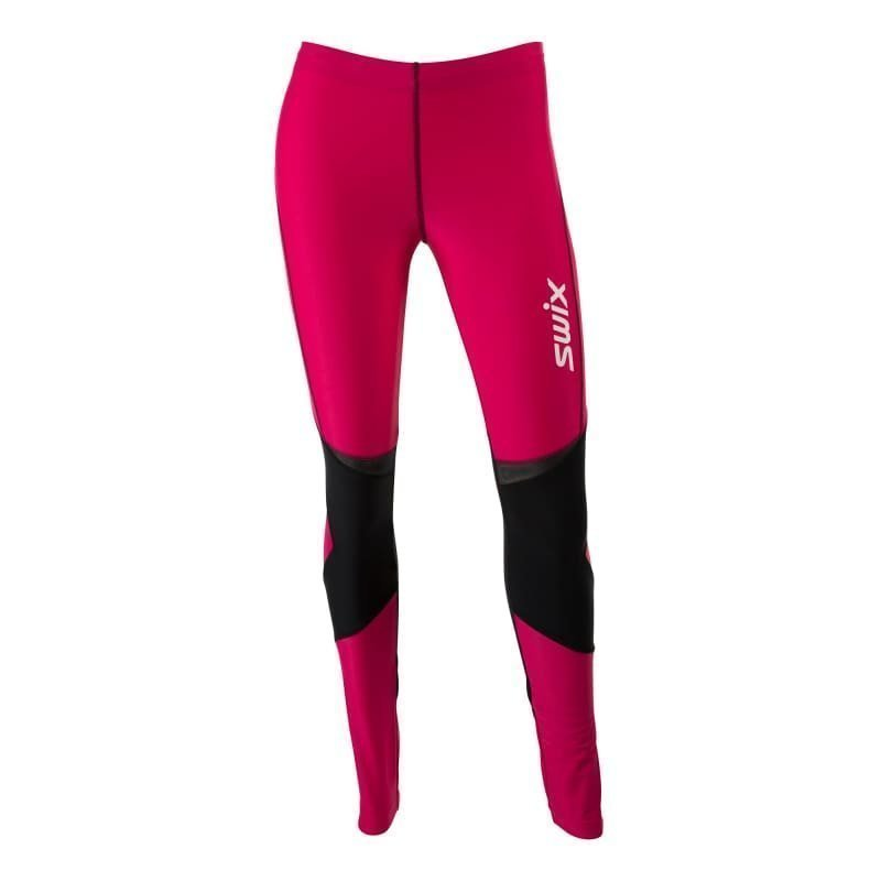 Swix O2 tights long Womens S Bright Fuchsia