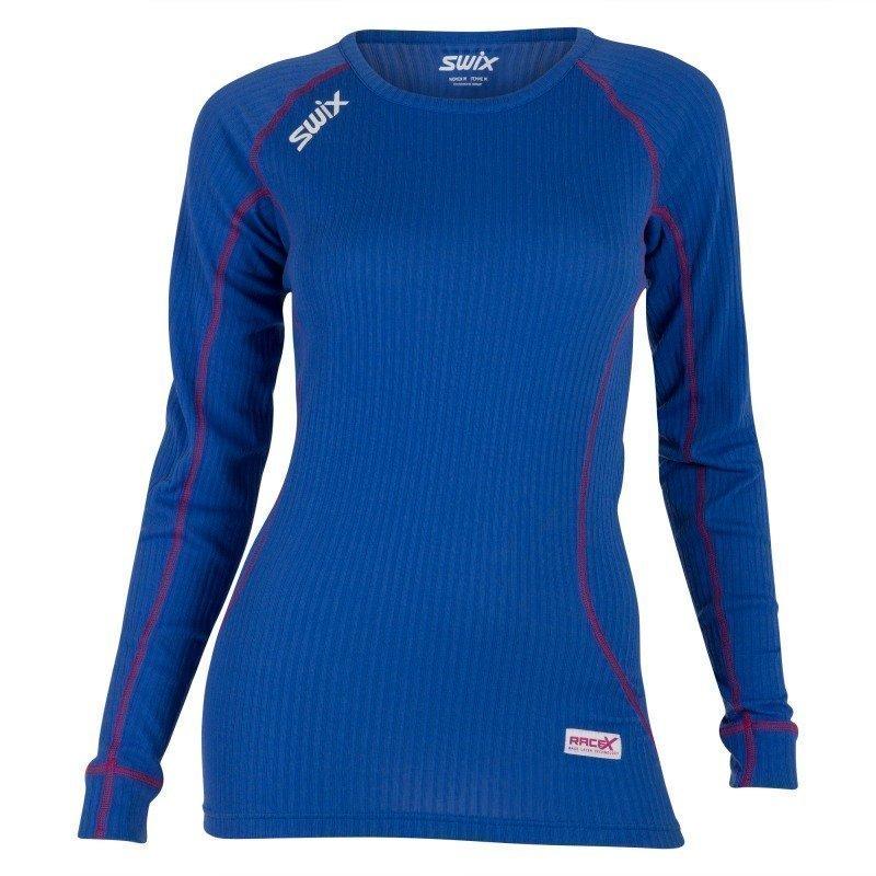 Swix RaceX Bodywear LS Womens M Mazarin Blue/Bright Fuchsia