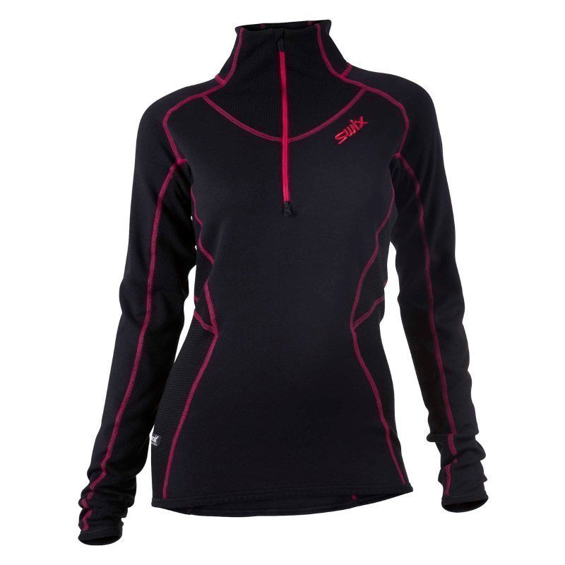 Swix RaceX Speed Midlayer Womens S Black/Bright Fuchsia