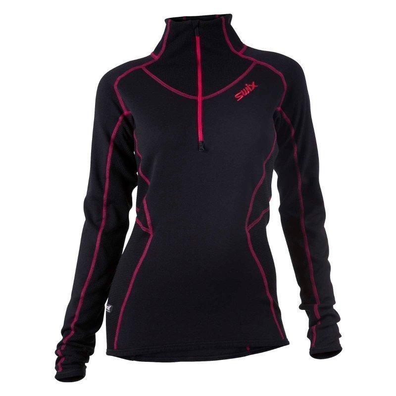 Swix RaceX Speed Midlayer Womens S Black/Bright Fuchsia