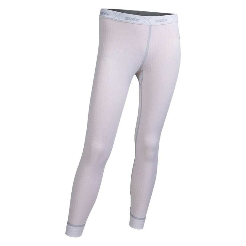 Swix RaceX bodyw pants Juniors 8 Bright White/Cold Grey