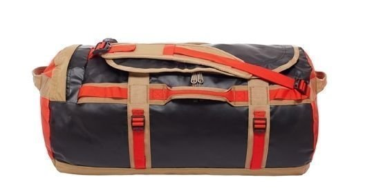 The North Face Base Camp Duffel M Ruskea/punainen