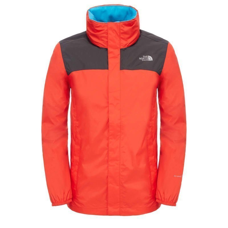 The North Face Boy's Resolve Reflective Jacket S Fiery Red/Asphalt Grey