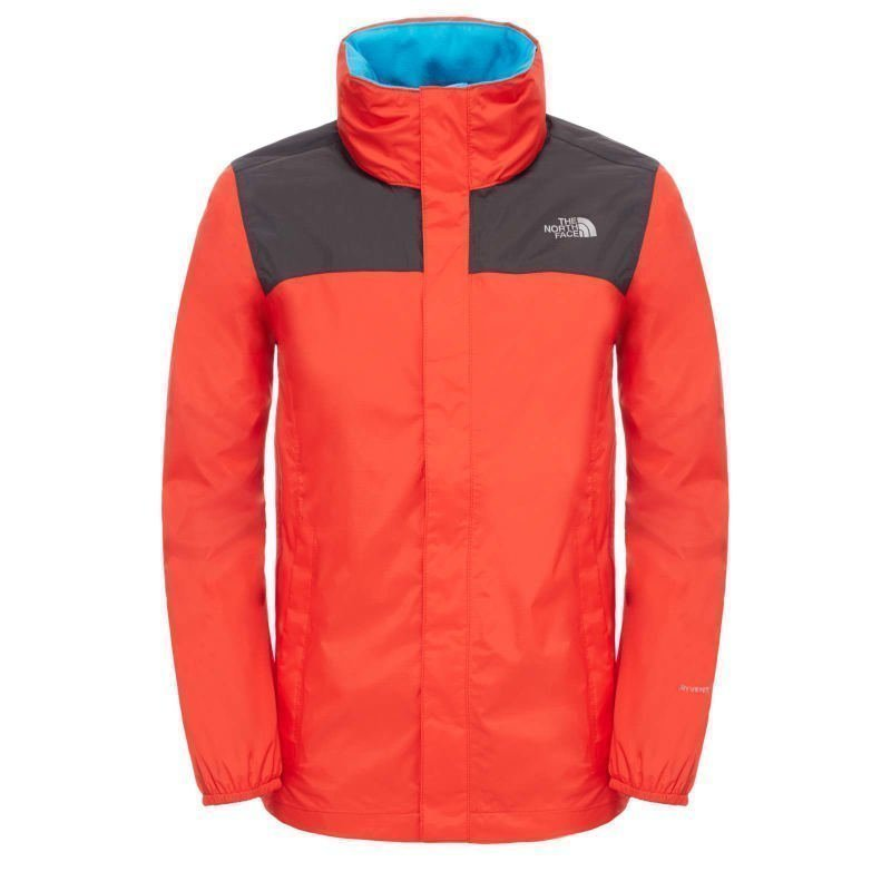 The North Face Boy's Resolve Reflective Jacket XS Fiery Red/Asphalt Grey