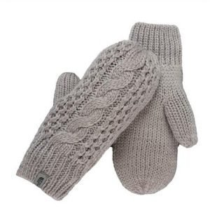 The North Face Cable knit mitts rukkaset harmaa