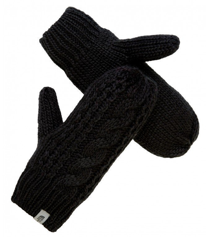 The North Face Cable knit mitts rukkaset musta