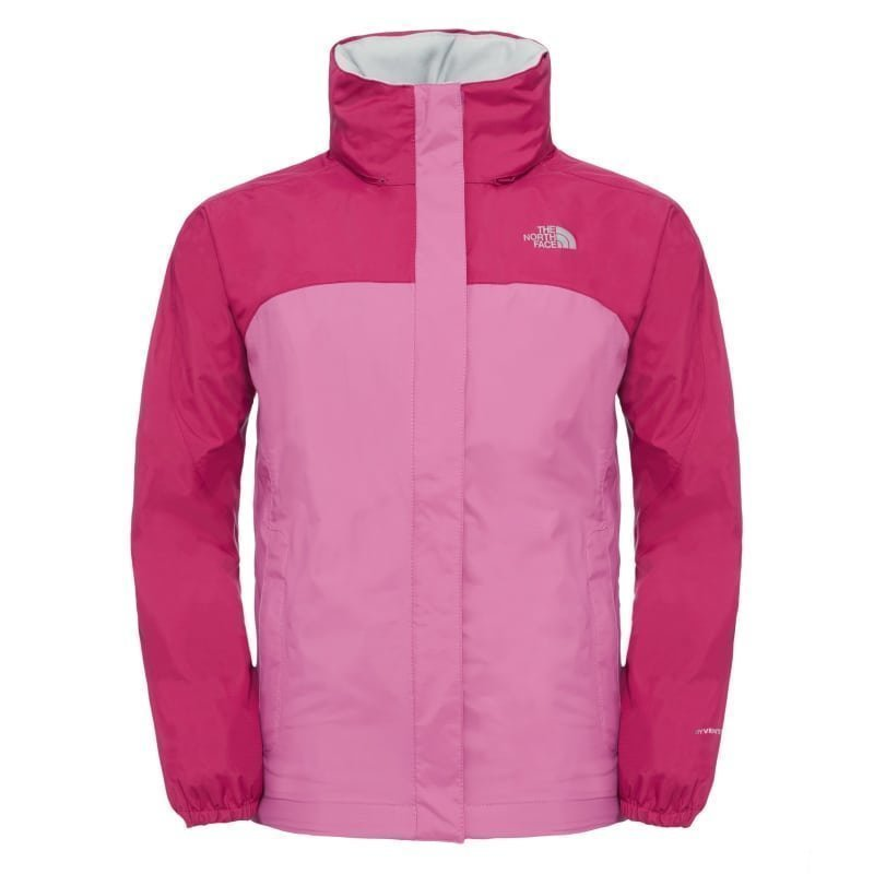 The North Face Girl's Resolve Reflective Jacket M Roxbury Pink/Wisteria Purple