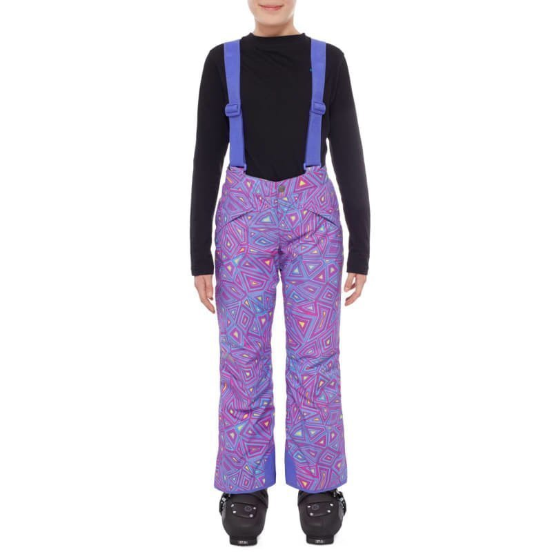 The North Face Girls Snowquest Suspender Pant XXS Starry Purple Geo Print