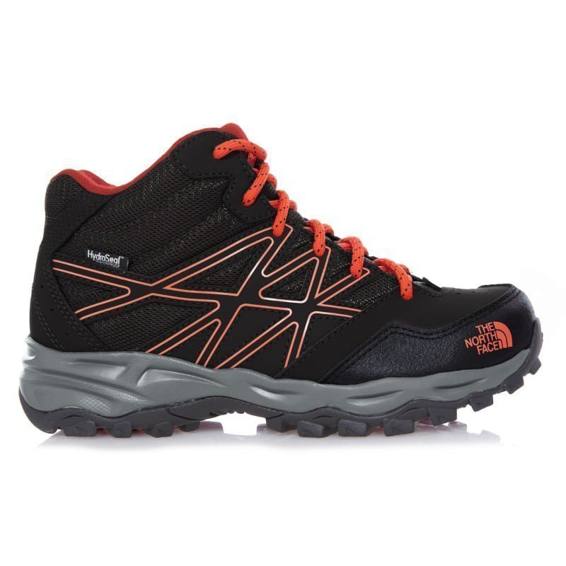 The North Face Junior Hedgehog Hiker Mid Wp US3/EU35 Black/Mandarin Red