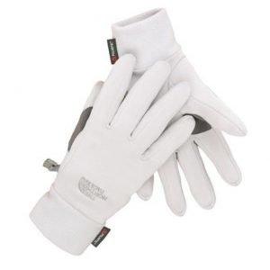 The North Face Women Powerstretch Gloves käsineet vaaleanharmaa