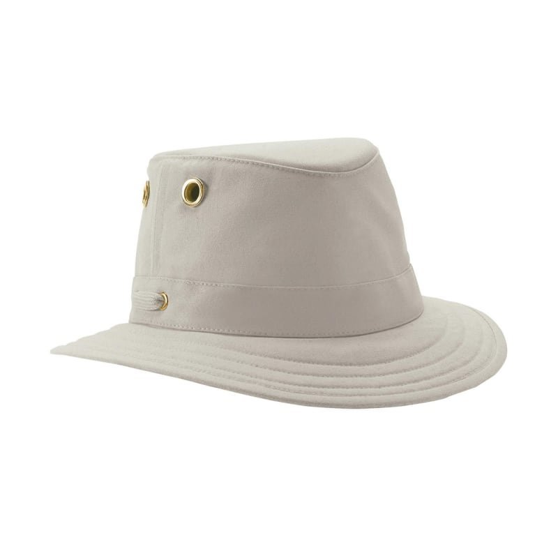 Tilley T5 Cotton Duck Hat 7 1/2 KHAKI WITH OLIVE UNDERBRIM