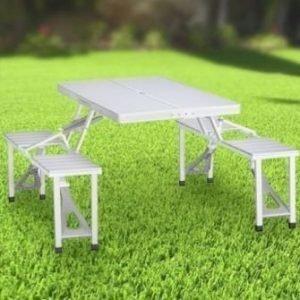 Tristar Retkipöytä ja tuolit Neljälle