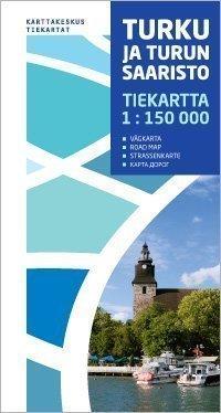 Turku ja Turun saaristo tiekartta 1:150 000 2012