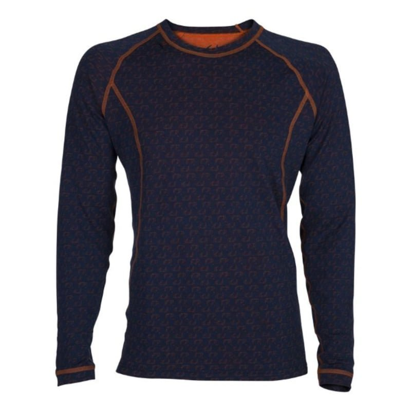 Ulvang 50Fifty Round Neck Ms S New Navy/Red Orange