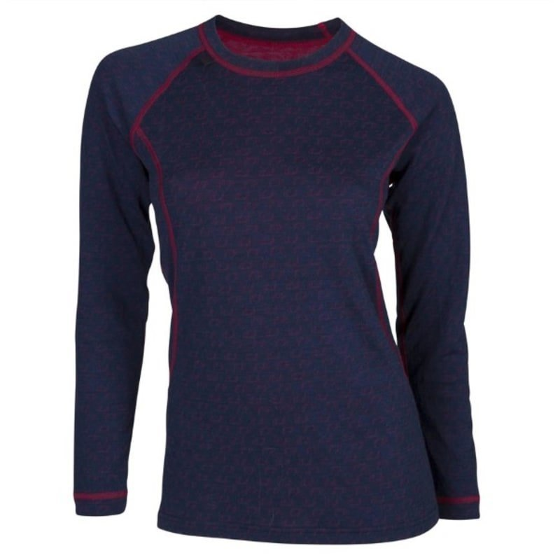 Ulvang 50Fifty Round Neck Ws S New Navy/Persian Red