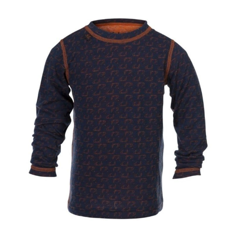 Ulvang 50Fifty round neck Jr 10 New Navy/Red Orange