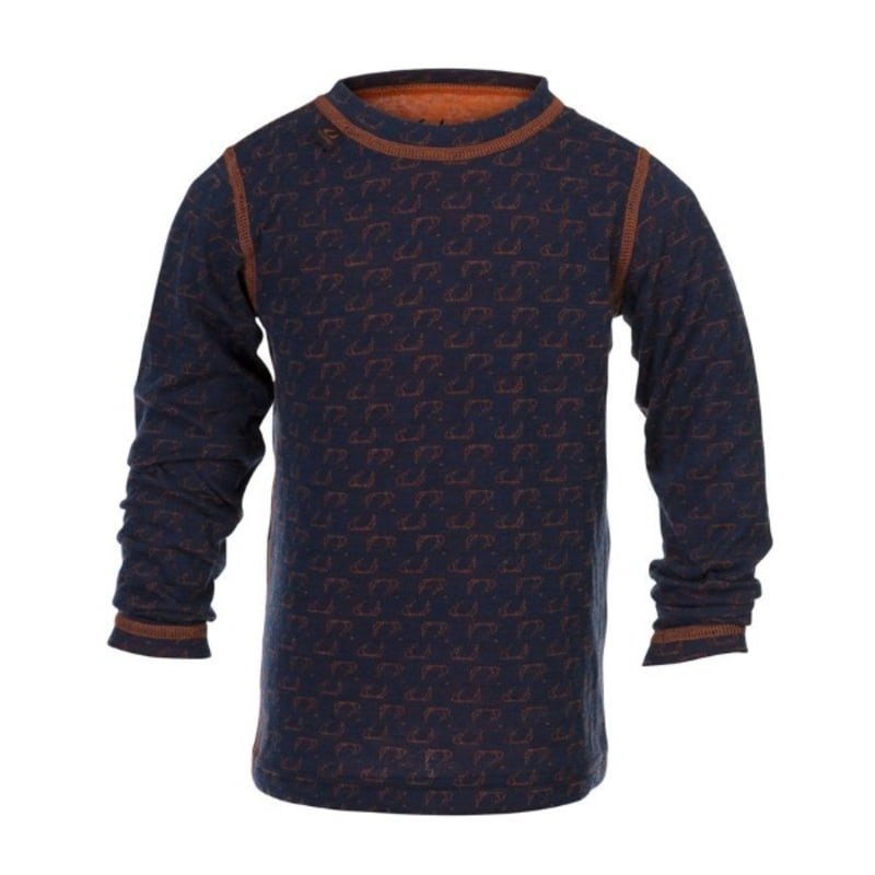 Ulvang 50Fifty round neck Jr 12 New Navy/Red Orange