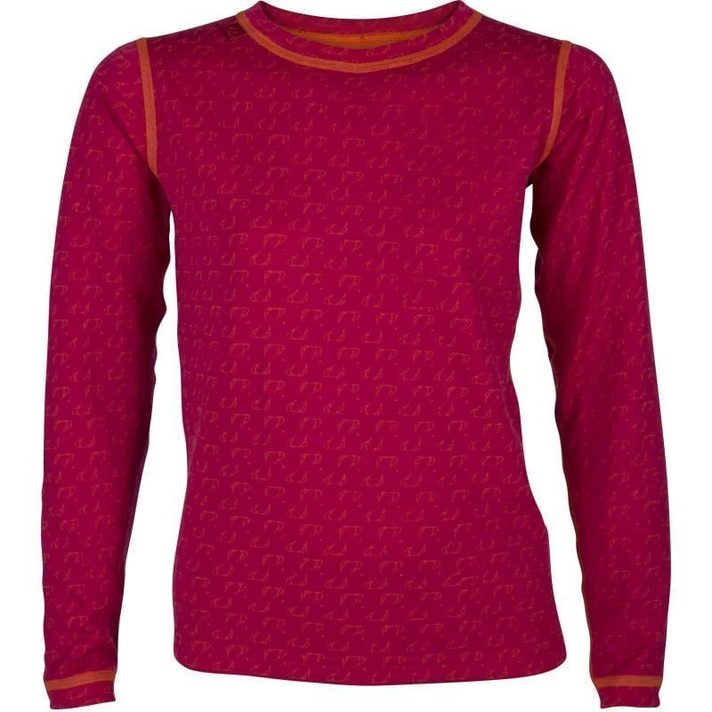 Ulvang 50Fifty round neck Jr 12 Persian Red/Red Orange