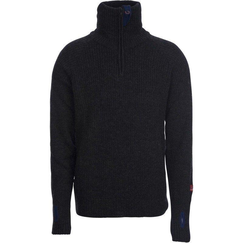 Ulvang Rav Sweater w/zip L Koks Melange