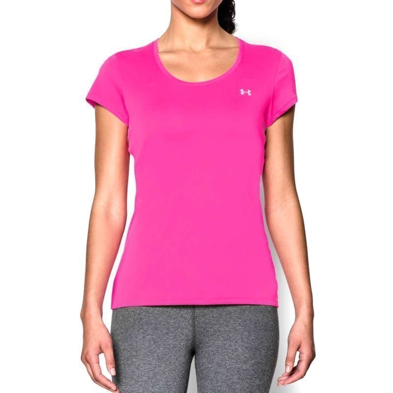 Under Armour Hg Flyweight Tee XS Rebel Pink