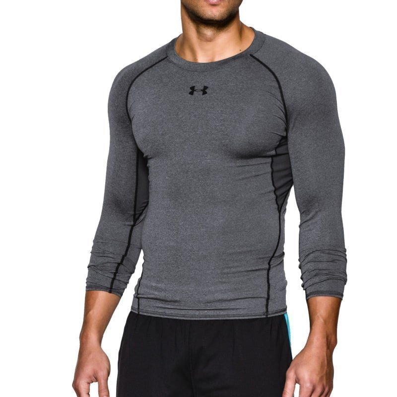 Under Armour Men's UA Heatgear LS Comp L Carbon Heather