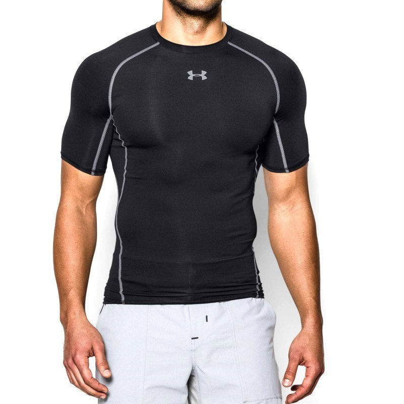 Under Armour Men's UA Heatgear SS Comp Shirt L Black