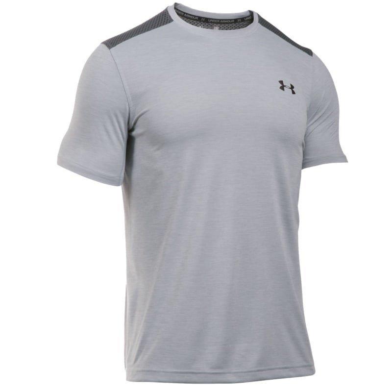 Under Armour Men's UA Raid Microthread SS T-Shirt XL Overcast Gray