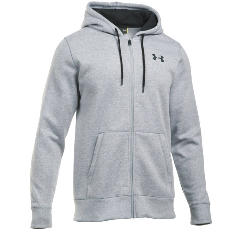 Under Armour Men's UA Storm Rival Fleece Zip Hoodie LG True Grey Heather