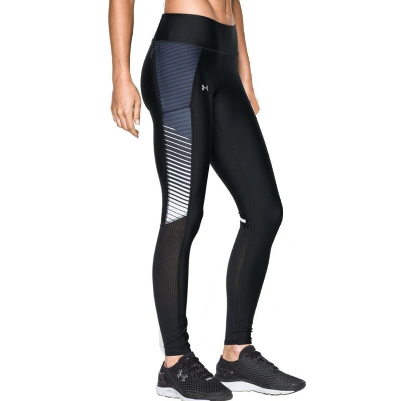 Under Armour Women's UA Fly-By Printed Legging LG Black
