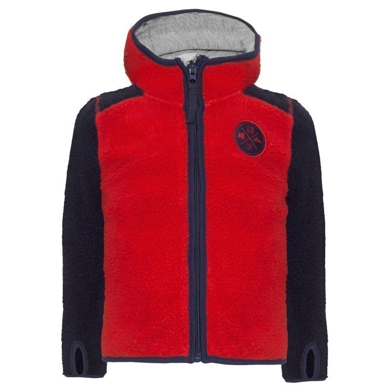 Urberg Kramfors Kid's Pile Fleece 110/116 Red/Blue
