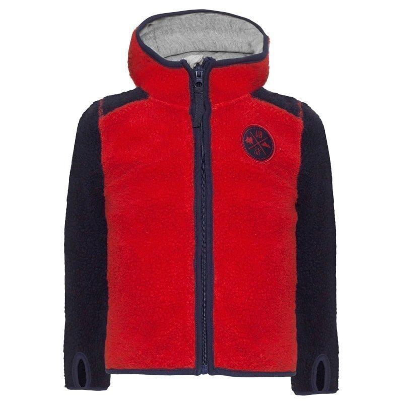 Urberg Kramfors Kid's Pile Fleece 86/92 Red/Blue
