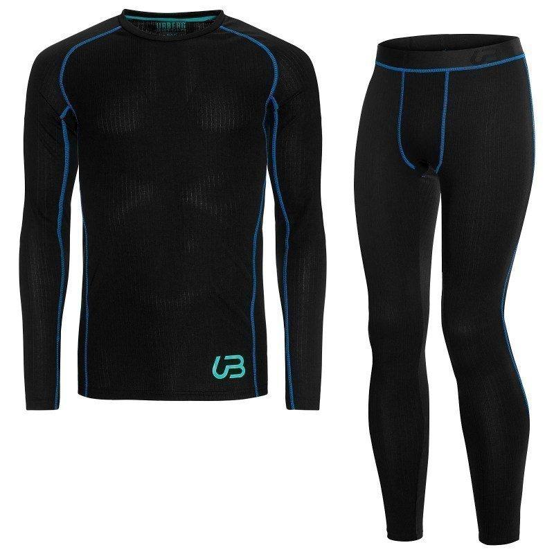 Urberg Men's Sport Dry Set L Black / Brilliant Blue