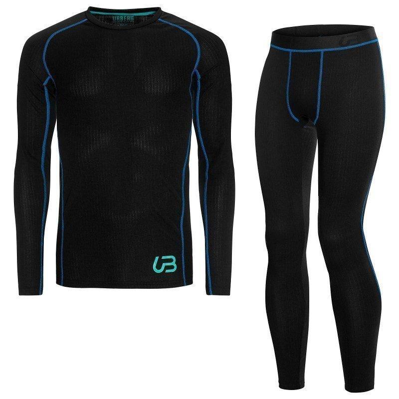 Urberg Men's Sport Dry Set S Black / Brilliant Blue