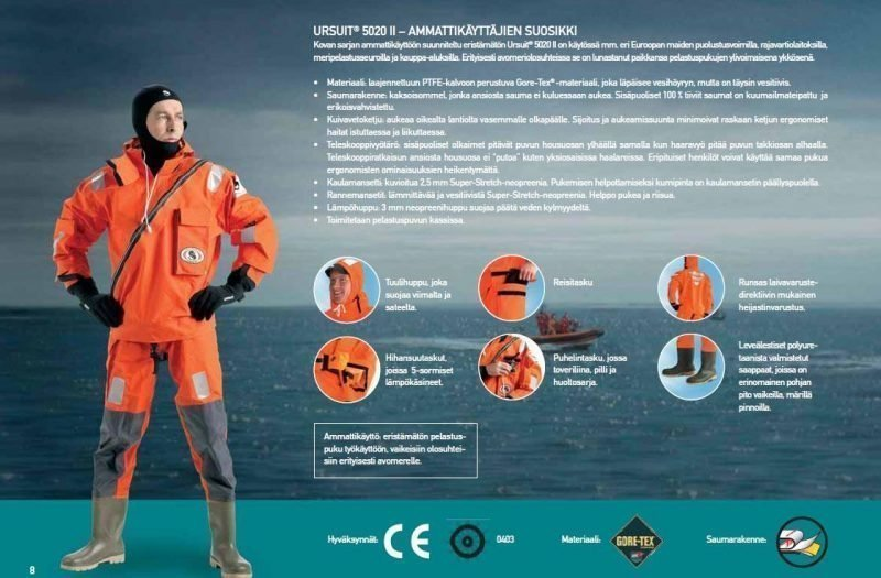 Ursuit Sea Horse SAR 5020 II Pelastuspuku oranssi XL