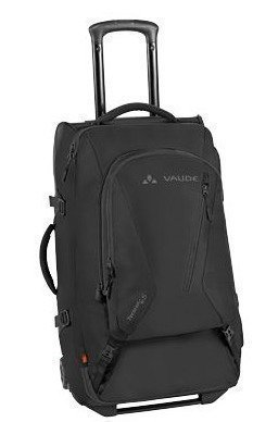 Vaude Tecorail 65 matkalaukku reppusangoilla musta