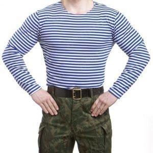 Venäläinen Telnyashka pitkähihainen vaaleansiniraitainen