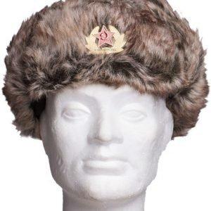 Venäläinen karvahattu neukkukokardilla tekokarva