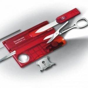 Victorinox Swiss Card Lite rubininpunainen (läpikuultava)