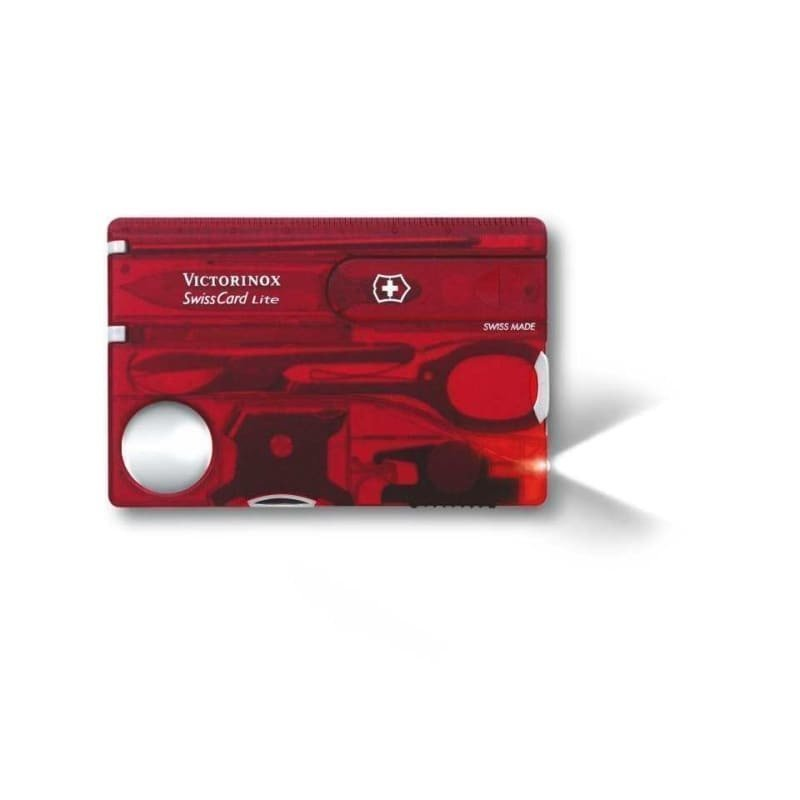 Victorinox SwissCard Lite Red Transparent
