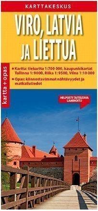 Viro Latvia ja Liettua kartta + opas suomenkielinen