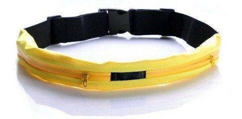 Wave Sporttivyö kahdella vetoketjutaskulla keltainen