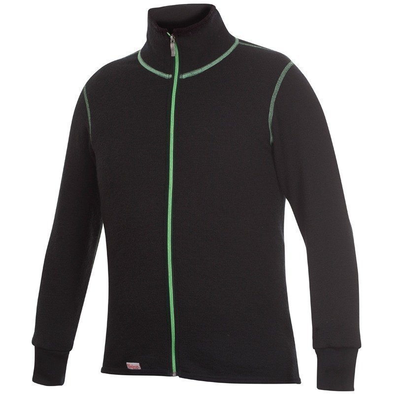 Woolpower Full Zip Jacket 400 L Black/Green