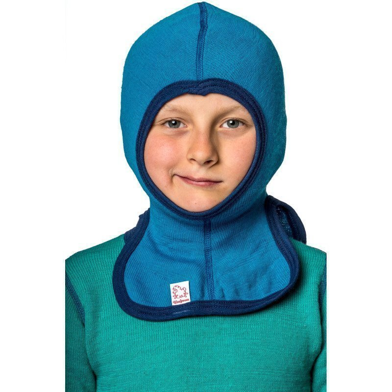Woolpower Kids Balaclava 200 110 Dolphine Blue