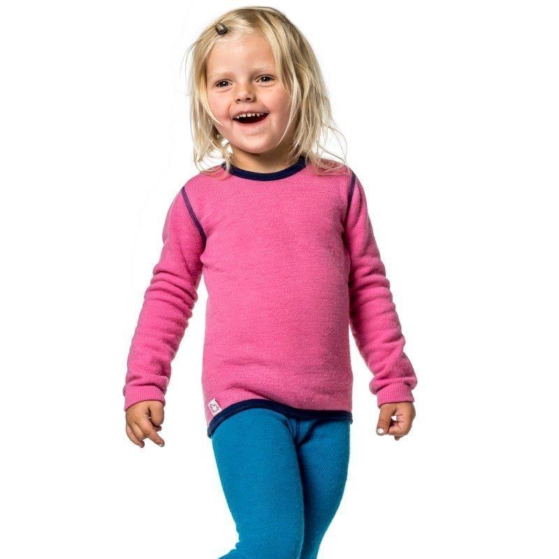 Woolpower Kids Crewneck 200 110-116 Sea Star Rose