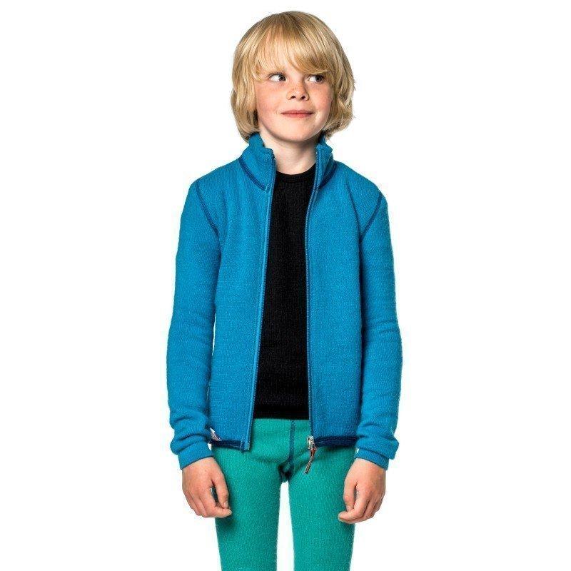 Woolpower Kids Full Zip Jacket 400 110-116 Dolphine Blue
