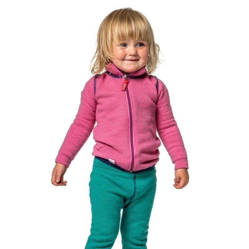 Woolpower Kids Full Zip Jacket 400 110-116 Sea Star Rose