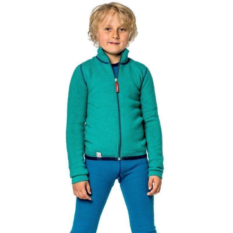 Woolpower Kids Full Zip Jacket 400 110-116 Turtle Green